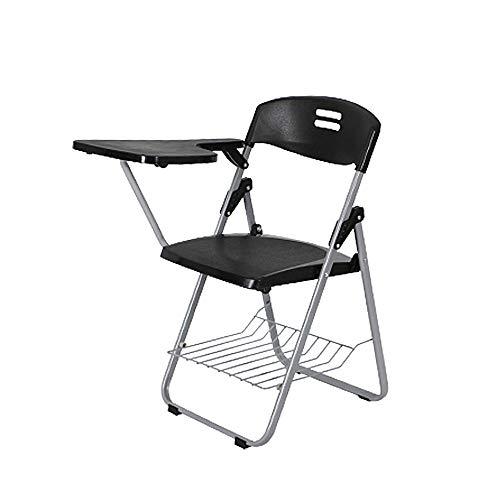 MIMI KING Trainingsstuhl Klapptisch Und Stuhl Einteiliger Stuhl Büro Besprechungsstuhl Kunststoffstuhl Student Lehrstuhl,BlackC