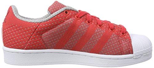 adidas - Superstar Weave, Scarpe da ginnastica Unisex – Adulto Rosso (Rot (Tomato F15-St/Tomato F15-St/Ftwr White))