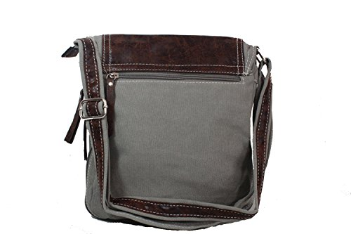 LILOSAC, Borsa a tracolla donna grigio Gris Patchy Beige Patchy