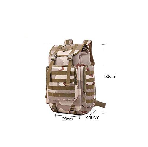 HWLXBB Outdoor Bergsteigen Tasche und Frauen 50L Wasserdichte Mehrzweck-Bergsteigen Tasche Wandern Camping Bergsteigen Rucksack 3*