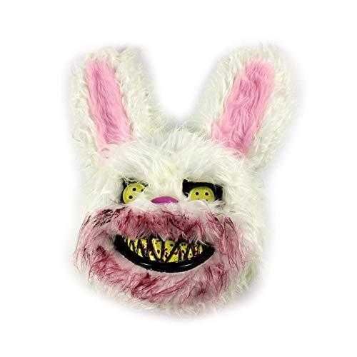 Halloween Spielzeug Bunny Mask Scary Party Gruselige Requisiten Killer Horror Nachtclub Streich Bloody Kostüm Bar Plüsch Kaninchen (Kaninchen Kostüm Streich)