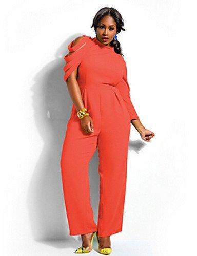 GSP-Combinaisons Aux femmes Sans Manches Décontracté / Grandes Tailles Mousseline de soie Moyen Micro-élastique black-xl