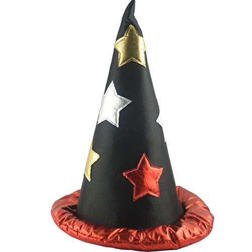 OverDose Halloween Hexenhut Zauberhut Partyhut Hoher Hut Mützen Hüte für Frauen Fasching Karneval Party Cosplay Dekoration Kostüme Zubehör (Rot)