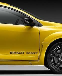 renault sport style logo fibre de carbone vinyle 450mm largeur paire de autocollants. Black Bedroom Furniture Sets. Home Design Ideas