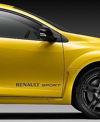 RENAULT SPORT stile logo vinile fibra carbonio 450mm ampiezza paio di adesivi