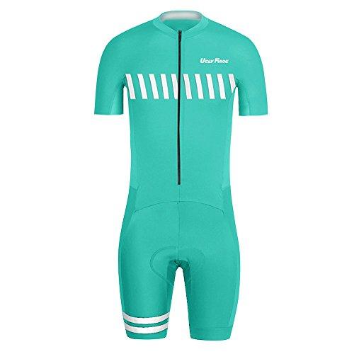 Uglyfrog Bike Wear Radsport Bekleidung Herren MTB Triathlon Tri Suit Schnell Trocknender Skinsuit Atem Triathlon Rennanzug Kurzarm/Lange Ärmel Summer Style