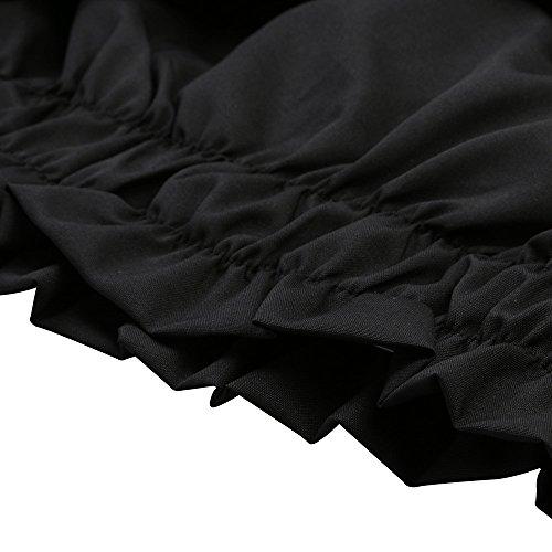 La Nero Camicetta ❤️manadlian Fuori Armato Di Carro Estate Estivo Ricamo Spalla Camicia Donne Casuale Grembiule Supera 2018 Donna Di Delle AwU5xPwq