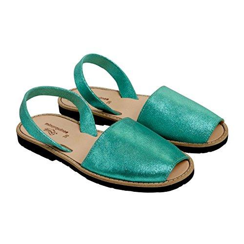 minorquines–Sandalen Avarca Magic Verde–Damen Grün - grün