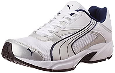 Puma Men's Volt. II Ind. White, Silver Metallic and Dark Denim Mesh Running Shoes - 6 UK/India (39 EU)
