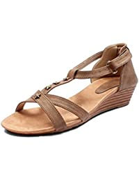 Meriggiare Women Synthetic Brown Wedges