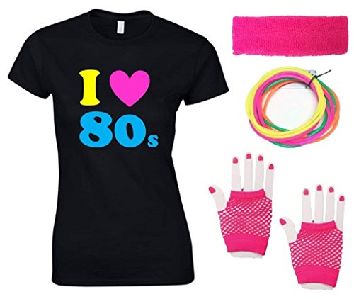 I Love the 80s T-shirt Set. Sizes 8 to 18