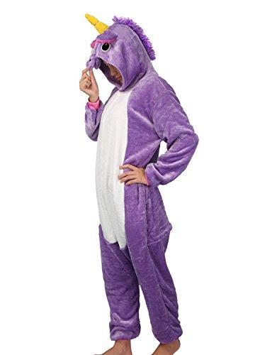 Einhorn Kostüm – Jumpsuit Cosplay, Tier Schlafanzug, Onesie für Erwachsene - 2