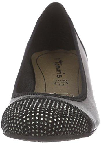 Tamaris22308 - Scarpe con Tacco Donna Nero (Nero (Black 001))