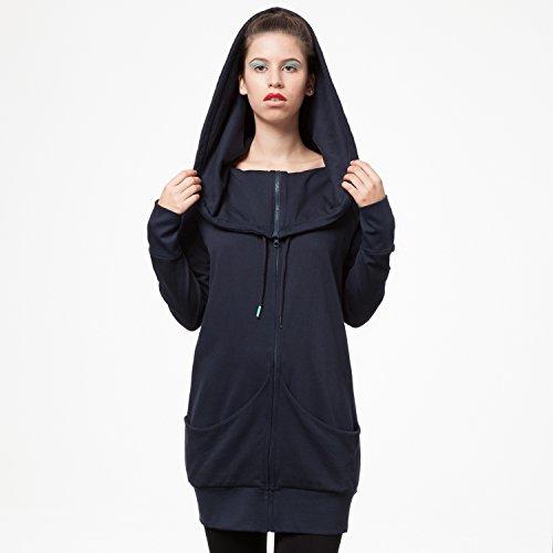 THOKKTHOKK TT1013 Yuki Zipjacket Eclipse Woman aus 100% Biobaumwolle hergestellt // GOTS & Fairtrade Zertifiziert, Größe:S/M - 4