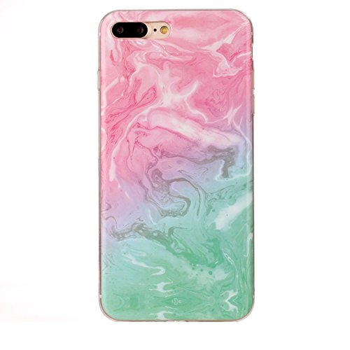 For iPhone 7 Plus Glitter Powder Soft TPU Protective Case (Silver) Marmor Pink Grün