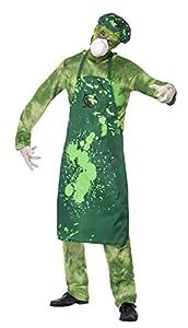 Smiffys Disfraz de Hombre de Peligro biológico, Verde, con pantalón, Parte de Arriba, de