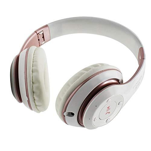 HermosaUKnight Universal-Super-Bass-Wireless-Bluetooth-Over-Ear-Gaming-Headset-Spiel-Kopfhörer-Weiß & Rosa