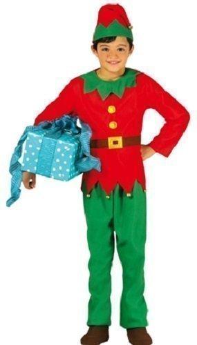 Fancy Me Enfants garçon Filles Lutin de Père Noël Noël Costume déguisement Noël 3-12 Ans - Vert, 3-4 Years, Vert