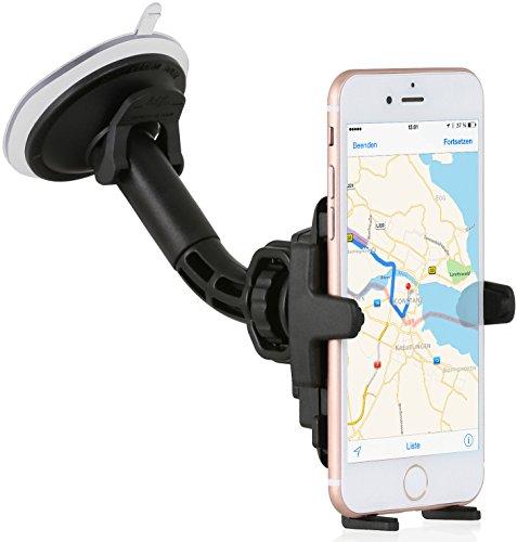 Preisvergleich Produktbild Wicked Chili Auto Halterung mit Kugelgelenk für Apple iPhone XS / X / 8 / 7 / 6 / SE / 5 Apple KFZ Handy Autohalterung Smartphone Scheibe (Made in Germany, Hülle & Case friendly)