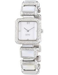 Esprit Collection Damen-Armbanduhr Hera White Analog Quarz Edelstahl EL101162F02