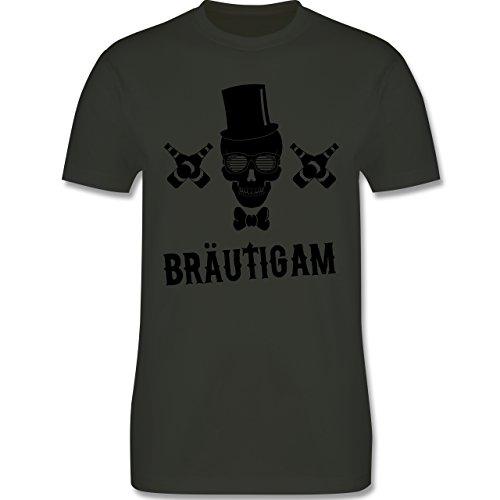 JGA Junggesellenabschied - Bräutigam Totenkopf - Herren Premium T-Shirt Army Grün