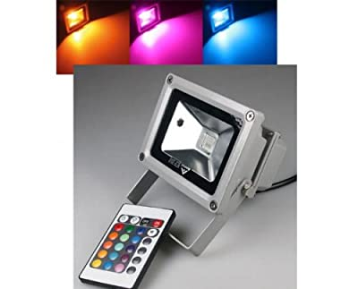 LED-Außenstrahler / Fluter 10W LED IP65, 230V, RGB mit FB
