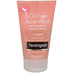 Neutrogena Oil Free Acne Wash Foaming Scrub for Unisex, Pink Grapefruit, 4.2 Ounce