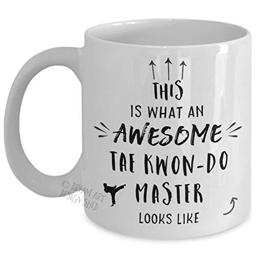 Alicert5II Taekwondo-Meister-Becher Taekwondo-Lehrer-Geschenk-Kampfkunst-Lehrer Sensei Anerkennungs-Kaffeetasse 11 oder 15oz