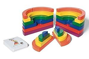 Buiten speel Circle Set Juego de Madera (22 Piezas, Multicolor)