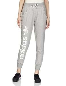 adidas Baggy Track Pants Trousers - Medium Grey Heather