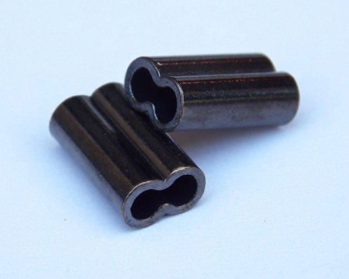 Catch All Tackle Kupfer Double Barrel Crimp Ärmel 1,3mm x 14mm-Lange 100Stück -