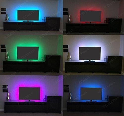 Mehrfarbig RGB 50cm 50cm USB GEFÜHRT Leuchtröhre LED TV Hintergrund Beleuchtung-Kit Mit USB Kabel 30 STÜCK SMD 5050