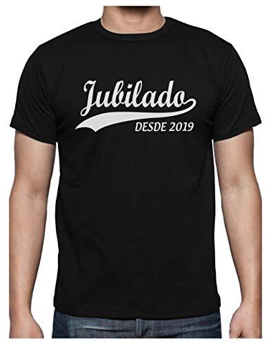 Green Turtle T-Shirts Camiseta para Hombre - Jubilado Desde el 2019 - Regalo Original para Jubilados Large Negro