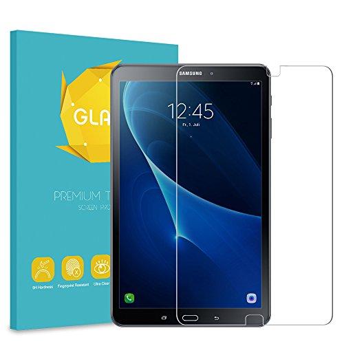 Fintie Samsung Galaxy Tab A 10.1 Panzerglas Schutzfolie - Klar HD 9H stark Kratzfest Hartglas Displayschutzfolie Glasfolie Displayfolie für Samsung Galaxy Tab A 10,1 Zoll T580N / T585N Tablet