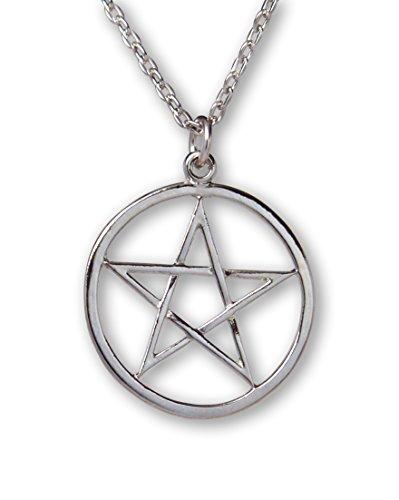 Pentagramm-Silber-Mittelalter-Renaissance-Anhänger-Halskette