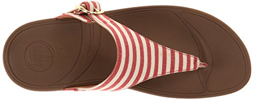 FitFlop The Skinny Damen Plateausandalen Red (Red 002)