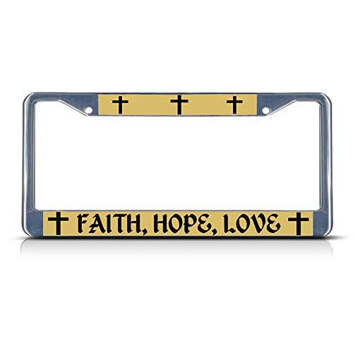 Faith, Hope, Love, religiöses Christus, strapazierfähig, Metall, ideal für Männer und Frauen, Auto-Garadge Dekor ()