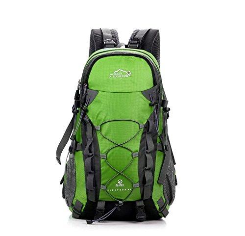 BM Outdoor Bergsteigen Tasche 40L groß Kapazität Rucksack Walk für Männer und Frauen grün