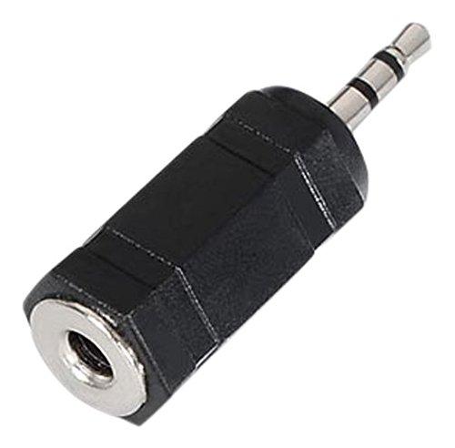 NanoCable 10.27.0001 - Adaptador de audio estéreo Jack a mini-Jack, JACK 3.5/H-JACK 2.5/M, hembra-macho, negro