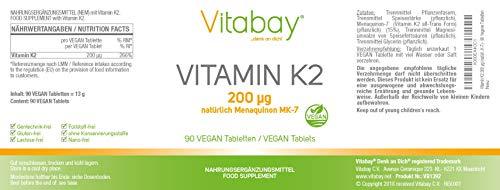 41JnecsRBbL - Vitamina K2200?G (menaquinone MK-7Natural) (90pastillas vegetales ()