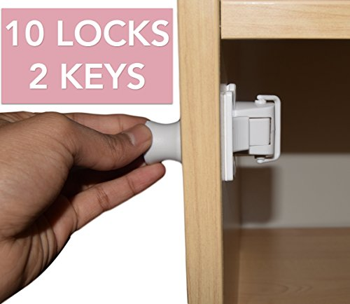 flash-sale-child-safety-cupboard-locks-set-10-locks-2-keys-magnetic-locks-for-cabinet-drawers-adhesi