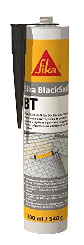 Sika Blackseal BT, Mastic bitumineux pour raccord d'étanchéité en couverture, 300ml, Noir