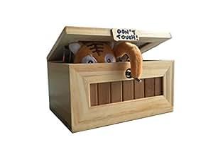 Cartoon Kreative Tiger Nutzlose Kisten Freunde und Kinder lustige Spielzeug, hölzerne Kinder Spielzeug, Witz Heilmittel für Weihnachtsgeschenk (Mini)