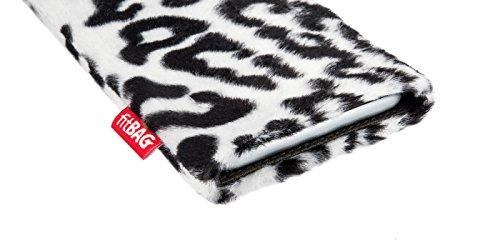 fitBAG Bonga Giraffe Handytasche Tasche aus Fellimitat mit Microfaserinnenfutter für Apple iPhone 4 16GB 32GB iPhone4 16 32 GB Bonga Schneeleopard