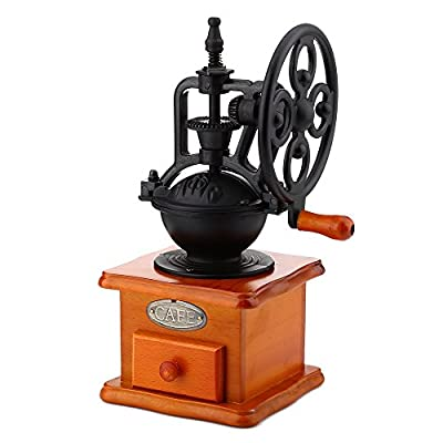 Retro Style Burr Coffee Grinder Hand Grinding Machine Hand-crank Roller from Generic