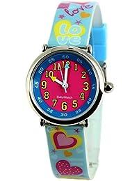 Baby Watch - 3700230606160 - Coffret Bon-Heure Love - Montre Fille - Quartz Pédagogique - Cadran Rose - Bracelet Plastique Multicolore