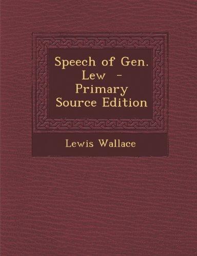 Speech of Gen. Lew