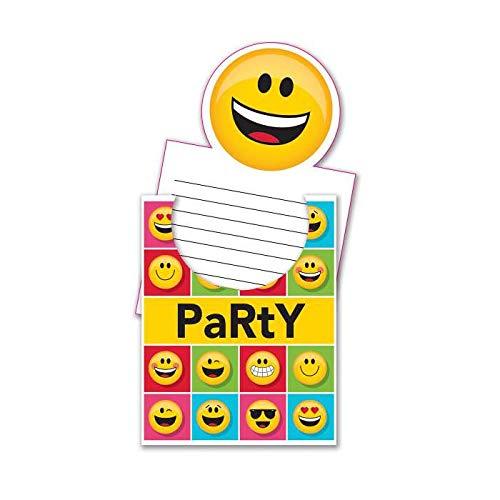PARTY DISCOUNT Einladung EMOJIONS, 1 Stück