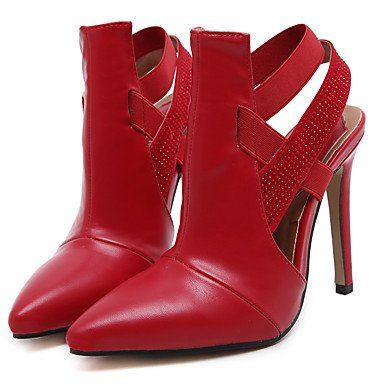 Moda Donna Sandali Sexy donna tacchi Primavera / Estate / Autunno / Inverno Gladiator / Comfort Nozze in similpelle / Party & sera abito / / Casual Stiletto Heel Red