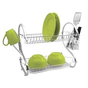 Égouttoir à vaisselle 2étages en acier inoxydable